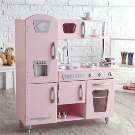 kidkraft cuisine vintage 53179 kidkraft pink vintage kitchen 53179 play kitchens at hayneedle