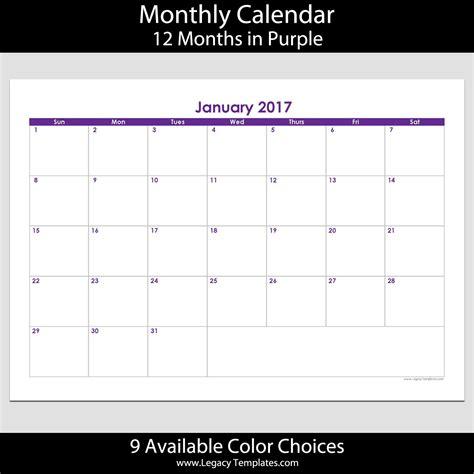 12 month calendar template 2017 2017 12 month landscape calendar a5 legacy templates