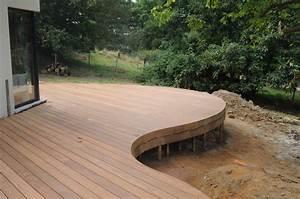 terrasses en bois arrondies dans un jardin de lasne mt With realiser terrasse en bois