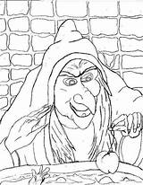 Witch Coloring Pages Printable Scary sketch template