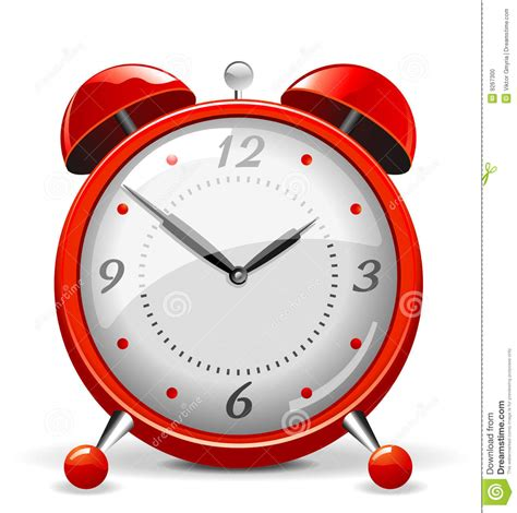 Red Alarm Clock Stock Photo - Image: 9267300