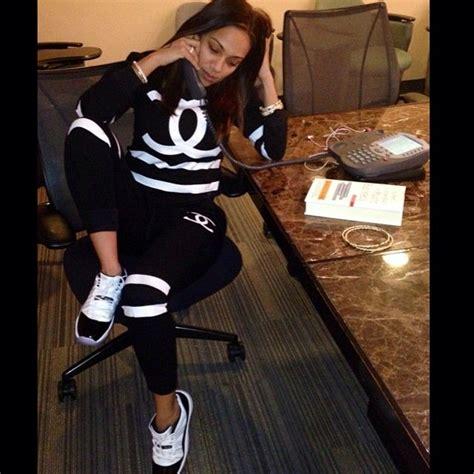 Erica Mena wearing Air Jordan XI 11 Low Concord | Sneakers of the Celebrities | Pinterest ...