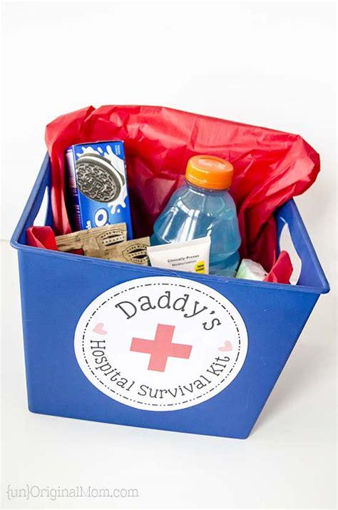 daddys hospital survival kit   printable
