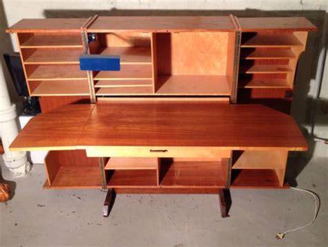 danish desk in a box danish mid century modern box fold away desk teak