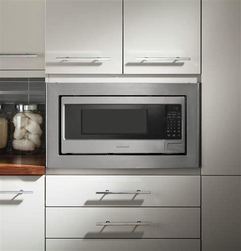 monogram zemsjss  cu ft countertopbuilt  microwave stainless steel