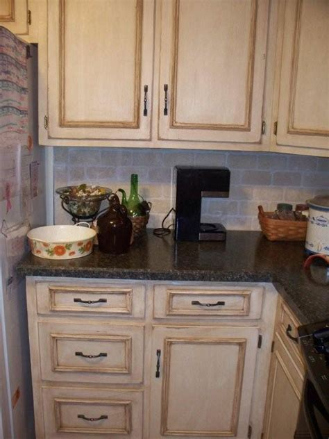 distressed kitchen cabinets pictures before and afters clients paint and glaze their kitchen