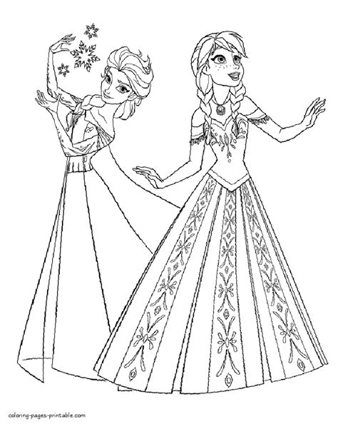 elsa anna coloring pages coloring pages printablecom