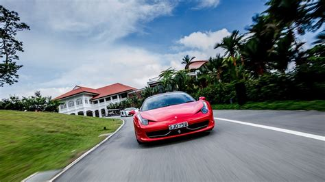 red cars ferrari roads  italia wallpaper allwallpaper