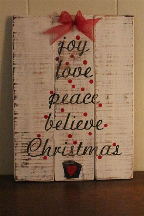 joy love peace  christmas pallet sign