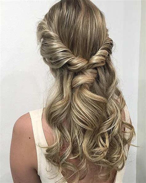 Prom Hairstyles Half Updos by Curly Hairstyles For Prom Half Up Twist Hairstyles