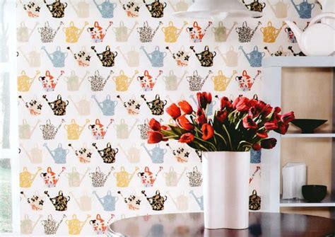 papier peint cuisine original papier peint pour cuisine une touche de joie dans l