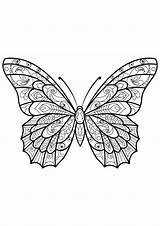 Butterfly Coloring Butterflies Pages Adult Printable Patterns Adults Mandala Animals Children Insects Zentangle Justcolor Outline Few Drawing Mandalas Coloriage Miracle sketch template
