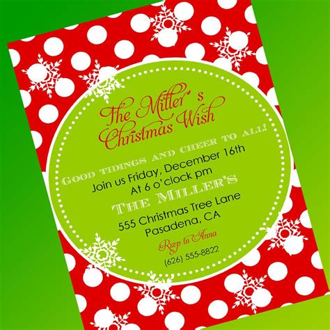 christmas party invitation template invitations