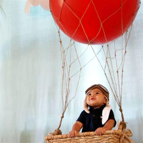 vintage hot air balloon st birthday tot traveler