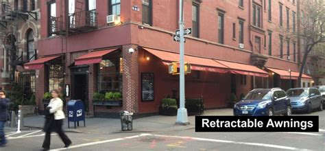 commercial retractable awnings  jersey awnings