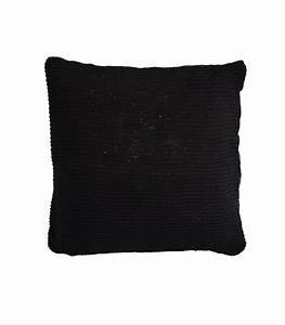 housse de coussin en tricot coloris noir 80x80 With tapis de sol avec housse coussin canapé 80x80