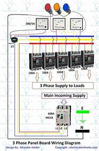 Electric 3 Phase Panel Wiring Diagram