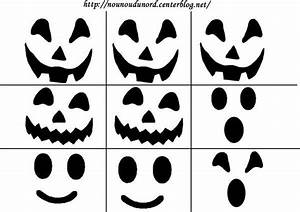 Visage Citrouille Halloween : yeux nez bouche pour citrouille et fantome ~ Nature-et-papiers.com Idées de Décoration