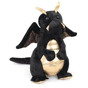 Merlin the Black Dragon Stuffed Animal by Douglas
