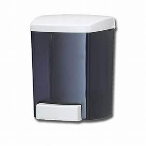 San Jamar S30TBK 30 oz. Bulk Soap Dispenser - Black Pearl