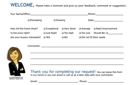 broker open house feedback form mysecretagent blog tips on holding a quot for sale by