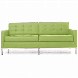Light green leather sofa home the honoroak for Light green sectional sofa