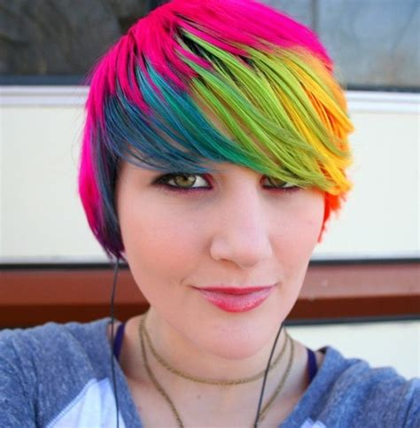 17 Best Ideas About Short Rainbow Hair On Pinterest