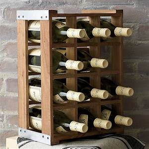 Rustic Acacia Wood Crate Wine Racks - The Green Head