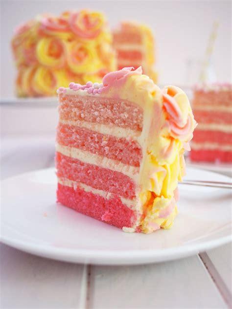 pink lemonade cake pink lemonade ombre cake recipe