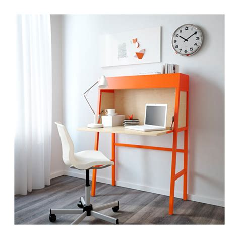 bureau refermable ikea ikea ps 2014 orange birch veneer ikea