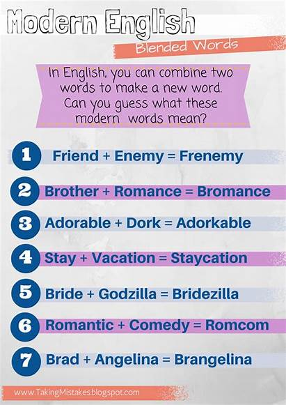 Words Blended English Examples Mistakes Esl Taking