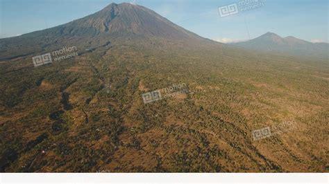 active volcano gunung agung  bali indonesia stock video