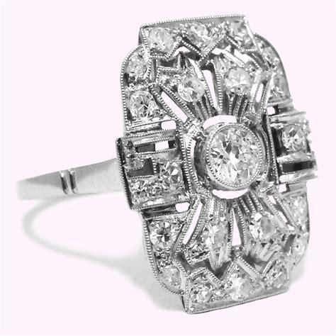 bague ancienne d 233 co platine diamants