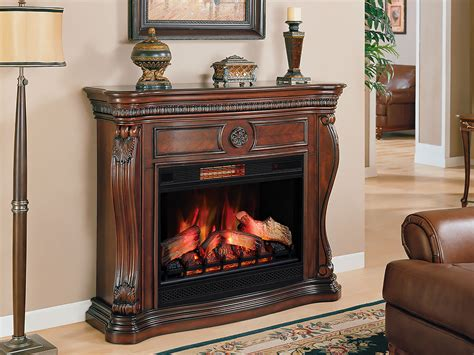 fireplace c 33 in infrared empire cherry electric fireplace