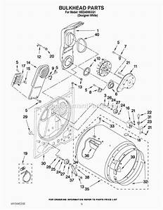 Whirlpool Wed4800xq1 Parts List And Diagram   Ereplacementparts Com