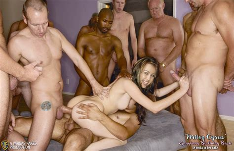 Celebrity Fake Nude Miley Cyrus Gangbang Fakes