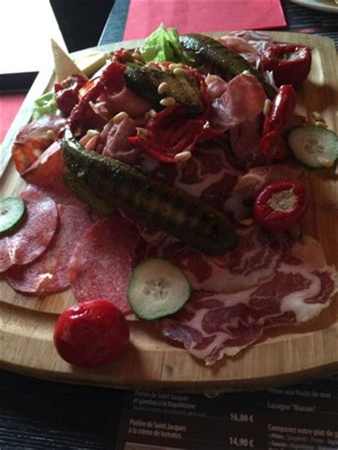 assiette de charcuterie italienne photo de porte d