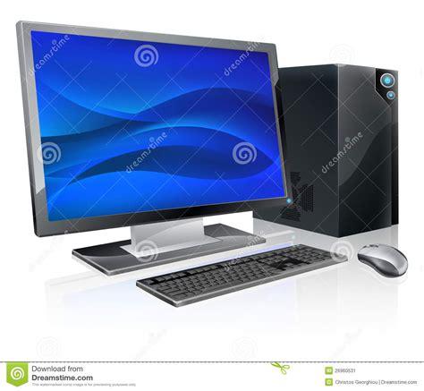 poste de travail bureau poste de travail d 39 ordinateur de pc de bureau illustration