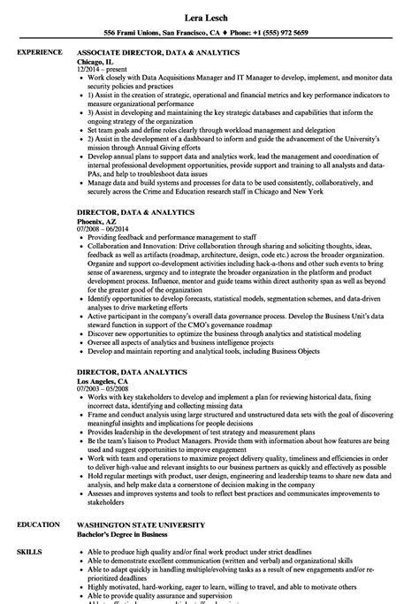 Resume For Analytics by Director Data Analytics Resume Sles Velvet