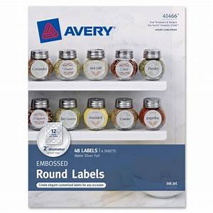 avery embossed round labels 41466 matte silver foil 2 With avery 2 circle labels