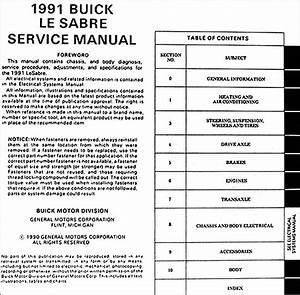 1989 Buick Lesabre Service Shop Repair Set Oem Service Body Service New Product Information And The Electrical Wiring Diagrams