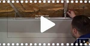 Decke Abhängen Anleitung : video anleitung eine decke abh ngen ~ Frokenaadalensverden.com Haus und Dekorationen