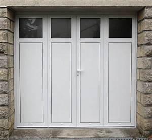 Porte de garage battante en aluminium a 2 3 ou 4 vantaux for Porte de garage 3 vantaux aluminium