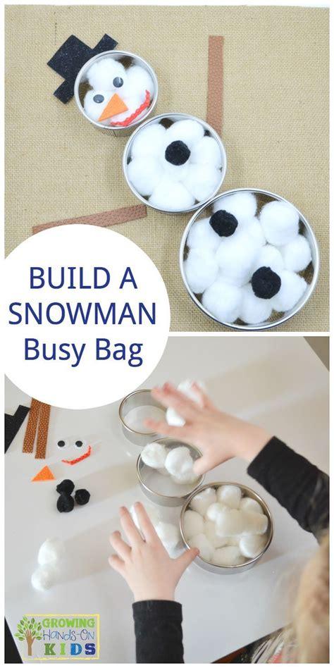 build a snowman busy bag for preschoolers winter 297 | 165a4822cc04e6171076fa2a062356d2