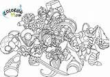 Skylanders Coloring Pages Giants Eye Giant Brawl Name Him There Named Because Huge Character Another Than sketch template