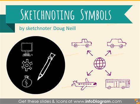 sketchnoting doodle symbols powerpoint icons visual notetaking