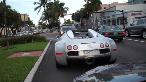 Bugatti On The Streets bugatti veyron grand sport on the in miami
