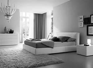 Chambre grise et blanche 19 idees zen et modernes pour se for Chambre grise et blanche