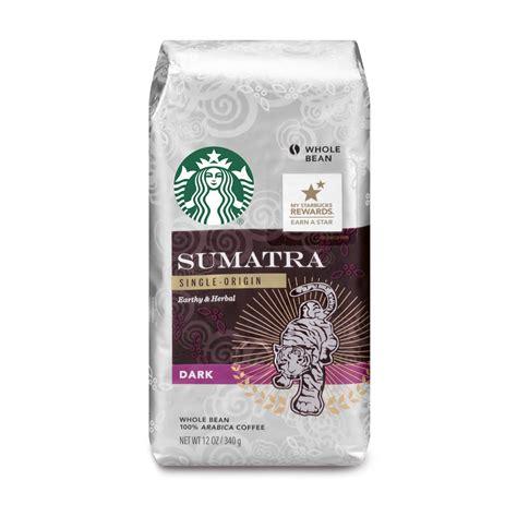 Great savings & free delivery / collection on many items. Starbucks Sumatra Dark Roast Whole Bean Coffee, 12-Ounce Bag - Walmart.com