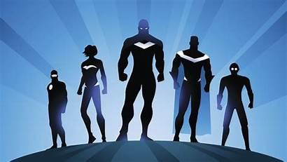 4k Superheroes Superhero Wallpapers Silhouette Team Vector